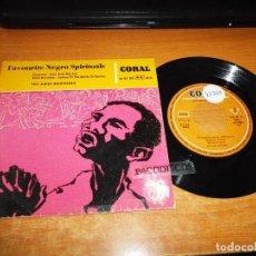 Discos de vinilo: THE AMES BROTHERS SHADRACK FAVOURITE NEGRO SPIRITUALS EP VINILO 1959 MICRO SURCO ESPAÑA 4 TEMAS. Lote 121791871