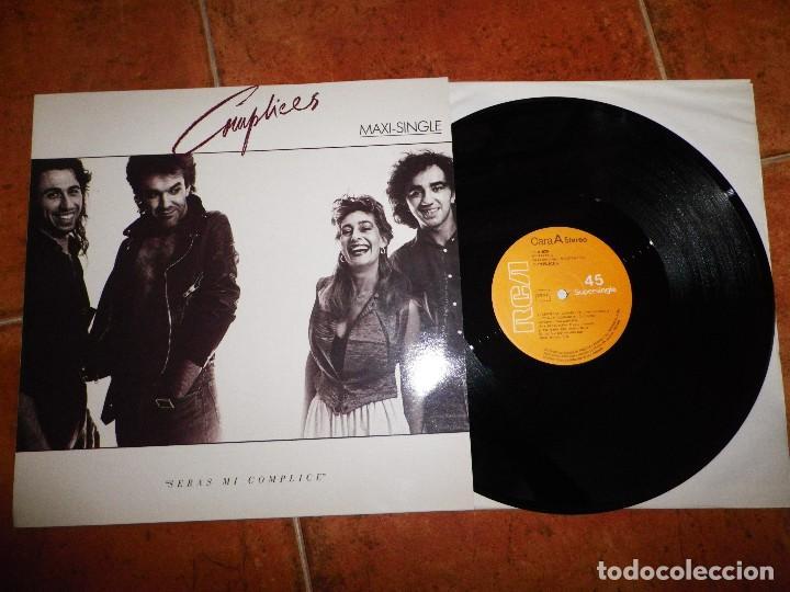 COMPLICES SERAS MI COMPLICE / LOCO ALQUIMISTA MAXI SINGLE VINILO 1987 TEO CARDALDA 3 TEMAS (Música - Discos de Vinilo - Maxi Singles - Grupos Españoles de los 70 y 80)