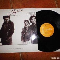 Discos de vinilo: COMPLICES SERAS MI COMPLICE / LOCO ALQUIMISTA MAXI SINGLE VINILO 1987 TEO CARDALDA 3 TEMAS. Lote 121797459