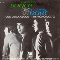 Discos de vinilo: TOMMY BOYCE & BOBBY HART, SG, OUT AND ABOUT + 1, AÑO 1967. Lote 121799335