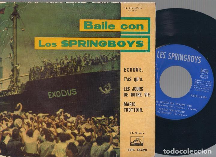 LES SPRINGBOYS - BAILE CON LOS SPRINGBOYS (EXODUS + 3) EP - LA VOZ DE SU AMO 1961 - EDICIÓN ESPAÑOLA (Música - Discos de Vinilo - EPs - Pop - Rock Internacional de los 50 y 60)