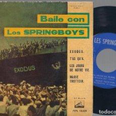 Discos de vinilo: LES SPRINGBOYS - BAILE CON LOS SPRINGBOYS (EXODUS + 3) EP - LA VOZ DE SU AMO 1961 - EDICIÓN ESPAÑOLA. Lote 121803679
