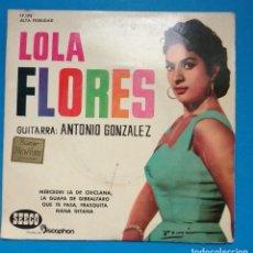Discos de vinilo: LOLA FLORES - MERCEDES LA DE CHICLANA + 3. Lote 121807827