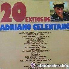 Discos de vinilo: ADRIANO CELENTANO - 20 EXITOS - LP SPAIN 1975. Lote 121812043