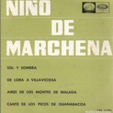 Discos de vinilo: NIÑO DE MARCHENA. DISCO 45 R.P.M. EMI-ODEON, 1965.. Lote 121813751