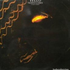 Discos de vinilo: YELLO - VICIOUS GAMES - VERTIGO - 880 574-1 - SPAIN. Lote 121818279