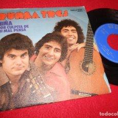 Discos de vinilo: RUMBA TRES NIÑA/POR CULPITA DE MI MAL PENSA 7'' SINGLE 1976 BELTER. Lote 121818975