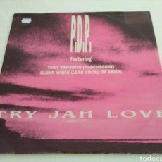 Discos de vinilo: P.D.P. FEATURING TONY ESPOSITO & GLEN WHITE - TRY JAH LOVE. Lote 121822959