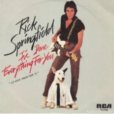 Discos de vinilo: RICK SPRINGFIELD - I'VE DONE EVERYTHING FOR YOU / RED HOT AND BLUE LOVE (SINGLE ESPAÑOL, RCA 1981). Lote 121830631