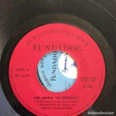 Discos de vinilo: ANA MARÍA LA JEREZANA - FIESTA FLAMENCA - EP FUNDADOR 1969. Lote 121842023