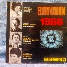 Discos de vinilo: MADALENA IGLESIAS / UDO JURGENS / DOMENICO MODUGNO / MILLY SCOTT - EUROVISION 1966 - EP SELLO BELTER. Lote 121851087