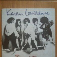 Discos de vinilo: KAREN LEWRENCE - RIP AND TEAR. Lote 121864220