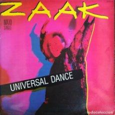 Discos de vinilo: ZAAK - UNIVERSAL DANCE - ZAFIRO - 20112114 - SPAIN. Lote 121870967