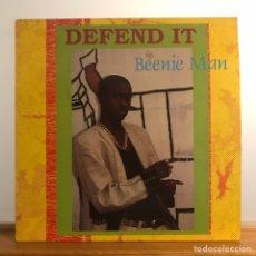 Discos de vinilo: BEENIE MAN/DEFEND IT / REGGAE DANCEHALL. Lote 121872110
