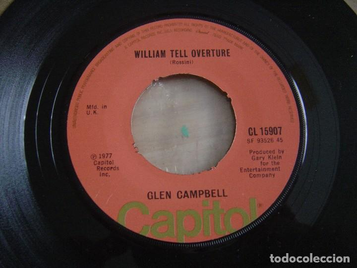GLEN CAMPBELL - SOUTHERN NIGHTS + WILLIAM TELL OVERTURE - SINGLE UK 1977 - CAPITOL (Música - Discos - Singles Vinilo - Country y Folk)