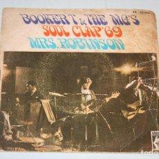 Discos de vinilo: BOOKER T & THE MG'S *** SINGLE VINILO MUSICA AÑO 1969 *** STAX *** . Lote 121889759