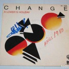 Discos de vinilo: CHANGE *** SINGLE VINILO MUSICA AÑO 1979 *** HISPAVOX *** . Lote 121890767