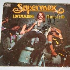 Discos de vinilo: SUPERMAX *** SINGLE VINILO MUSICA AÑO 1977 *** ATLANTIC HISPAVOX ***. Lote 121892019