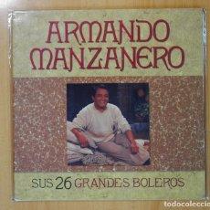 Discos de vinilo: ARMANDO MANZANERO - SUS 26 GRANDES BOLEROS - GATEFOLD - 2 LP. Lote 121892852