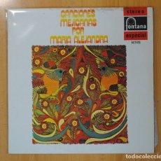 Discos de vinilo: MARIA ALEJANDRA - CANCIONES MEJICANAS POR MARIA ALEJANDRA - LP. Lote 121895346