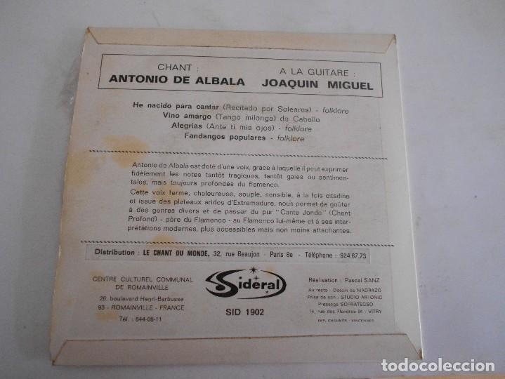 Discos de vinilo: ANTONIO DE ALBALA-EP HE NACIDO PARA CANTAR +3 - Foto 2 - 121902311
