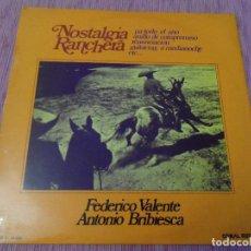 Discos de vinilo: FEDERICO VALENTE / ANTONIO BRIBIESCA - NOSTALGIA RANCHERA . Lote 121909627