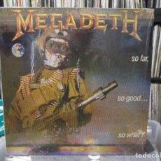 Discos de vinilo: MEGADETH - SO FAR, SO GOOD... SO WHAT! (LP, ALBUM) . Lote 121923563