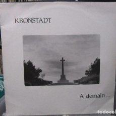 Discos de vinilo: KRONSTADT - A DEMAIN... (LP) 1985 FRANCE. Lote 121930679