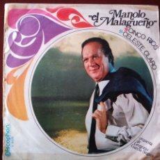 Discos de vinilo: MANOLO EL MALAGUEÑO. Lote 121986479