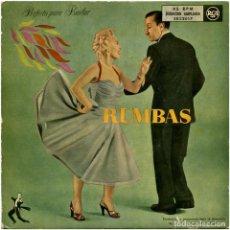 Discos de vinilo: JOSE MORAND, MIGUELITO VALDES, JOSÉ CURBELO, TITO RODRIGUEZ, TITO PUENTE - RUMBAS - DOBLE EP SPAIN . Lote 121986515