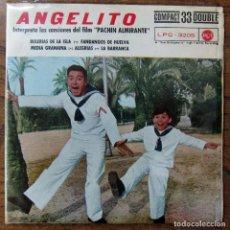 Discos de vinilo: ANGELITO - CANCIONES DE LA PELICULA PACHIN ALMIRANTE - 1961 - FLAMENCO, SANTOS ALCOCER. Lote 121987103
