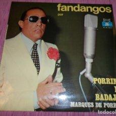 Discos de vinilo: PORRINA DE BADAJOZ - FANDANGOS (SPAIN 1976). Lote 121995703
