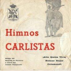Discos de vinilo: BANDA DEL REQUETÉ DE NAVARRA, ORFEÓN PAMPLONÉS - HIMNOS CARLISTAS - SIN DISCOGRAFICA GA-1. Lote 121996671