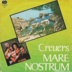 Discos de vinilo: GRUPO DESCONOCIDO - CREUERS MARE NOSTRUM - LEMON RECORDS ED-2 - 1978 - PROMO - MEGA RARO 100% RUMBA. Lote 121997095