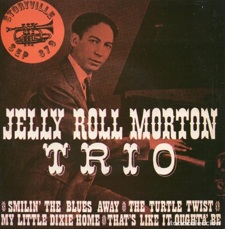 JELLY ROLL - MORTON TRIO -, EP, SMILIN´THE BLUES AWAY + 3 , AÑO 19?? TRADE MARK ?? (Música - Discos de Vinilo - EPs - Jazz, Jazz-Rock, Blues y R&B)