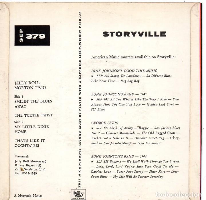 Discos de vinilo: JELLY ROLL - MORTON TRIO -, EP, SMILIN´THE BLUES AWAY + 3 , AÑO 19?? TRADE MARK ?? - Foto 2 - 121997907