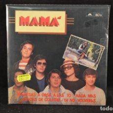 Discos de vinilo: MAMA - REGRESARAS A CASA A LAS 10 +3 - EP EDICION LIMITADA Y NUMERADA Nº 4285. Lote 121999415