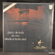 Discos de vinilo: PACO DE LUCIA - EN VIVO DESDE EL TEATRO REAL - LP. Lote 122000171