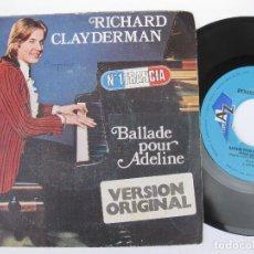 Discos de vinilo: RICHARD CLAYDERMAN - BALLADE FOR ADELINE. Lote 122002563