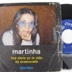 Discos de vinilo: MARTINHA - HOY DARIA LA VIDA. Lote 122002623