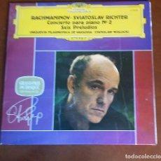 Discos de vinilo: VINILO. SERGEI RACHMANINOV/ SVIATOSLAV RICHTER. CONCIERTO PARA PIANO NÚM. 2 Y SEIS PRELUDIOS. Lote 122006183