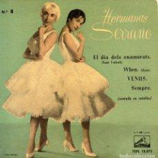 Discos de vinilo: HERMANAS SERRANO - CANTADO EN CATALÁN -, EP, EL DIA DELS ENAMORATS + 3 , AÑO 1959. Lote 128163614