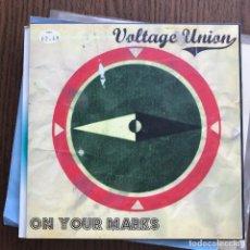 Discos de vinilo: VOLTAGE UNION - ON YOUR MARKS - SINGLE DANCE TO THE RADIO 2007. Lote 122016203