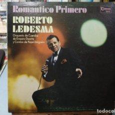 Discos de vinilo: ROBERTO LEDESMA, ORQ. DE ERNESTO DUARTE Y COMBO DE PEPÉ ... - ROMÁNTICO PRIMERO - LP. GEMA RECORDS . Lote 122019031
