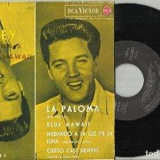 Discos de vinilo: ELVIS PRESLEY EP LA PALOMA + 3 FACSIMIL ESPAÑA 1987. Lote 150945358