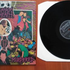 Discos de vinilo: NAPALM DEATH--MENTALY MURDERED.1989.MADE IN ENGLAND.. Lote 122023771