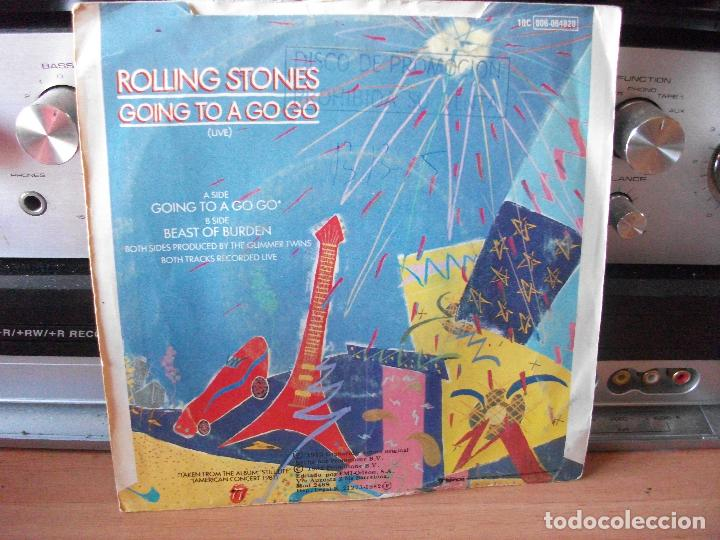Discos de vinilo: THE ROLLING STONES GOING TO A GOGO single spain 1982 PDELUXE - Foto 2 - 122025111