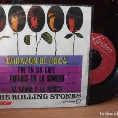 Discos de vinilo: THE ROLLING STONES CORAZON DE ROCA + 3 EP MEJICO 1967 PDELUXE. Lote 122026103