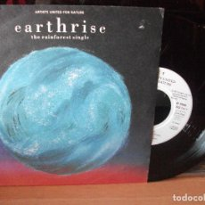 Discos de vinilo: VARIOS - ARTISTS UNITED FOR NATURE EARTHRISE SINGLE GERMANY 1992 PDELUXE. Lote 122027283