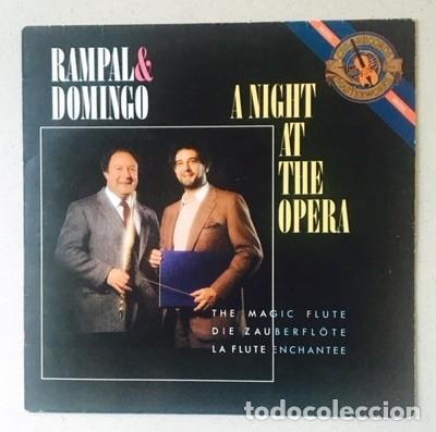 RAMPAL & DOMINGO - A NIGHT AT THE OPERA - MOZART - GLUCK - PLÁCIDO DOMINGO (COMO NUEVO) (Música - Discos - LP Vinilo - Clásica, Ópera, Zarzuela y Marchas)